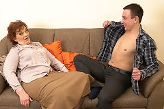 Horny Robbie loves fucking older mature ladies