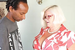 Big breasted British BBW fucking a black dude hard and long