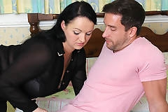 Cute chubby British housewife fucking with her lover